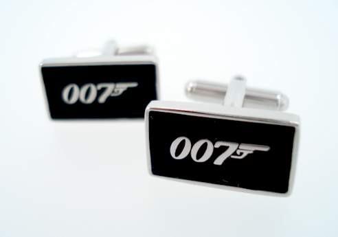 gemelos mancuernas 007 james bond con estuche de lujo