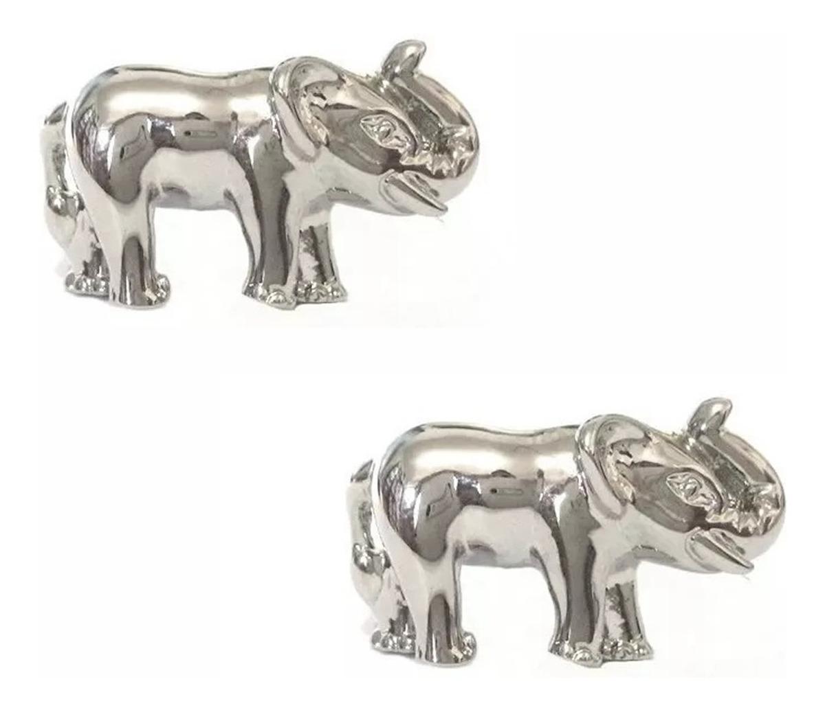 Rodio plateado Elefante Gemelos De Alta Calidad