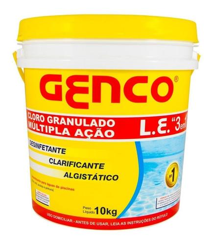 genco múltipla ação 3em1  cloro granulado 10kg genco