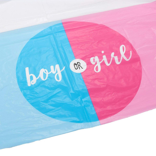 gender reveal party supplies - 3 pack of pink and blue boy o