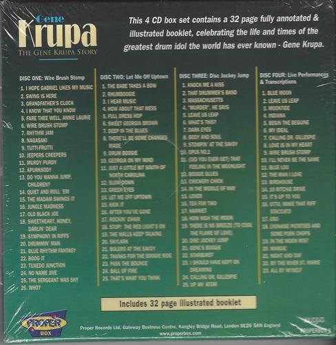 gene krupa - the gene krupa show 04 cd`s - lacrado importado