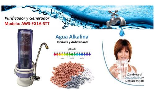 genera agua alcalina, ionizada antioxidante vida y salud