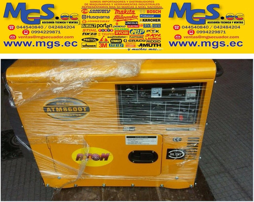 generador atm8600 silencioso a diesel 7kva marca atom