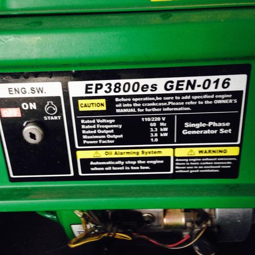 generador atouan ep 3800 watts 9.0 hp.negociable