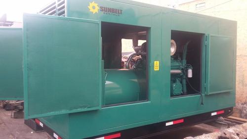 generador de 350 kw acustico para planta de asfalto