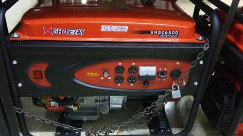generador de luz 6500w a gasolina marca shineray.