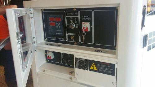 generador de luz a diesel 10kva con panel transferencia atom