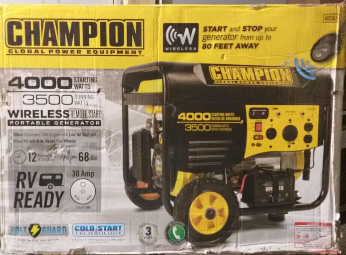 Generador De Luz A Gasolina Champion 4000 Watts 999900 En Watt Generator Wiring Cargando Zoom