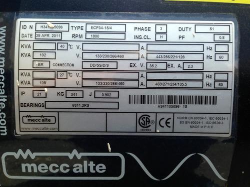generador de luz cal power 85 kw gas natural/ propano nuevo!