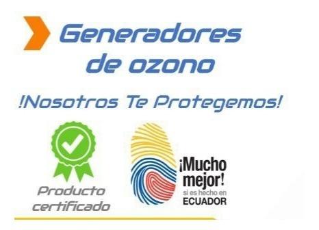 generador de ozono.