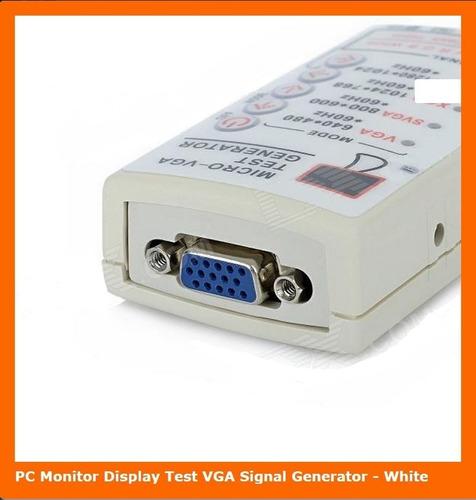 generador de señales de prueba vga