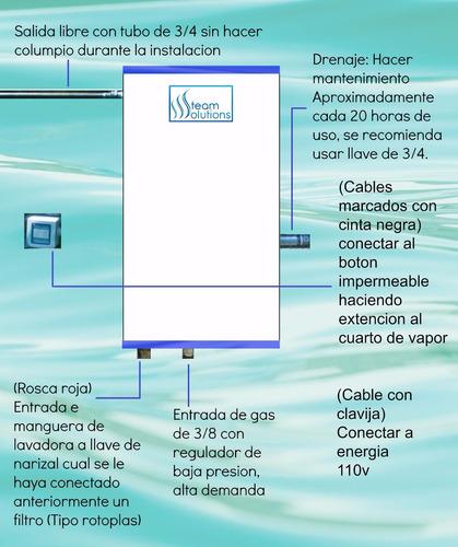 generador de vapor 5m3 encendido electrónico 4 años garantia
