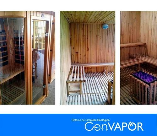 generador de vapor, calor y saunas