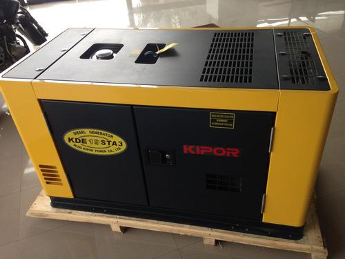 generador eléctrico de 16kva marca kipor estrenar + tranfer