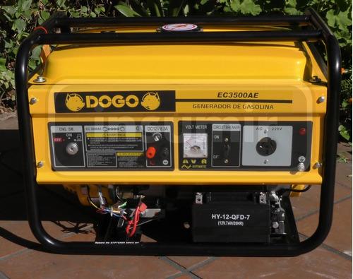 generador electrico grupo electrógeno nafta dogo 3500 2.7kv
