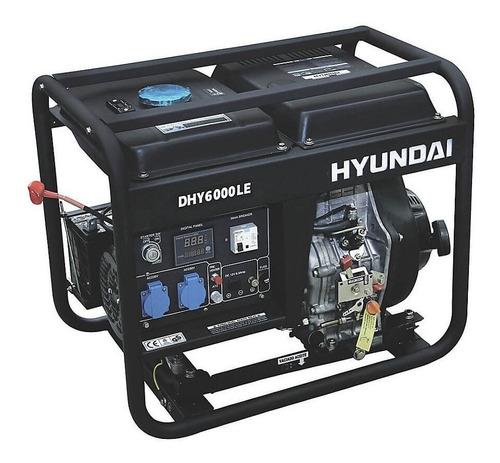 generador eléctrico y manual hyundai diesel 5/5,5 kw/kva