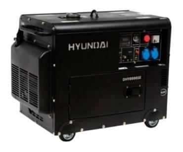 generador eléctrico y manual hyundai diesel 6/6,3 kw/kva