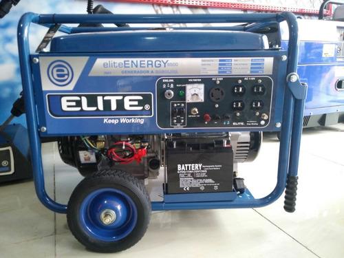 generador elite portatil a gasolina, 6.5kw, 389cc. 110v