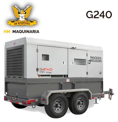 generador g 240 210kw marca wacker neuson