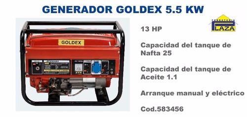 generador goldex 5.5 kw