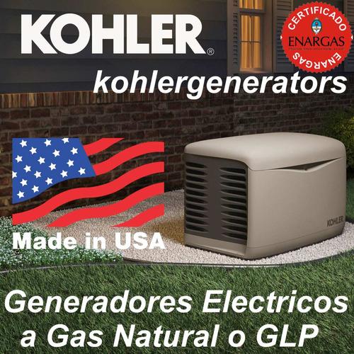 generador kohler gas conexionado basico instalación p/marcha