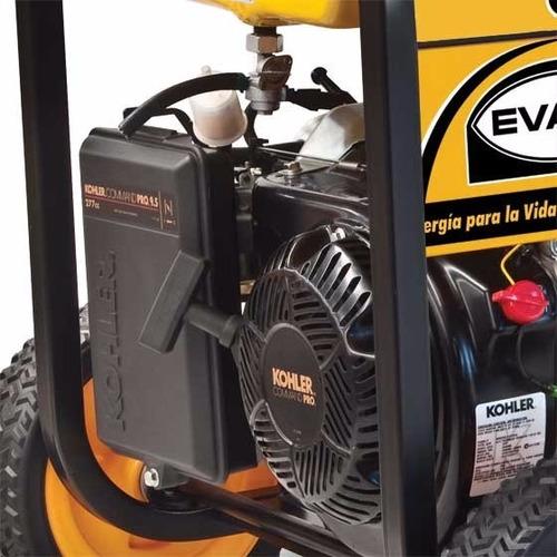 generador monofásico de 5,500w motor kohler de 9.5hp evans