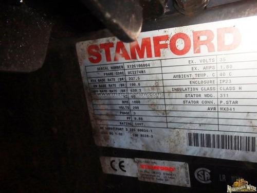 generador o planta de luz 237 kva 190 kw, año 2012 folio 992