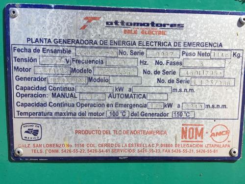 generador planta de luz de 175 kw  200 kva