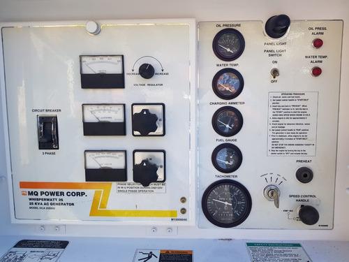 generador planta de luz multiquip 25 kva diesel nacional