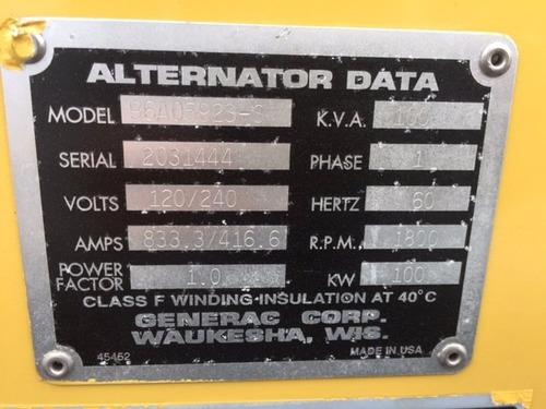 generador planta de luz olympian 100 kva gas lp oferta