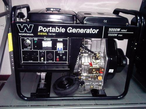 generador planta electrica 5000watts 110/220 diesel abierta