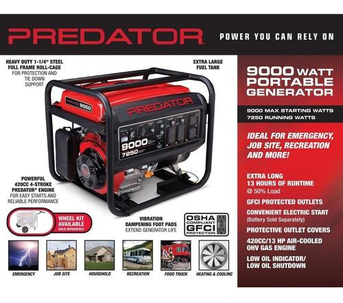 Generador Predator De 9000 Watts 13 Hp