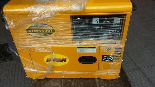 generador silencioso a diesel 7kva marca atom