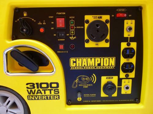 generador tipo inversor portátil champion power 3100 watts