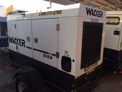 generador wacker g70 de 58 kw mod 2007