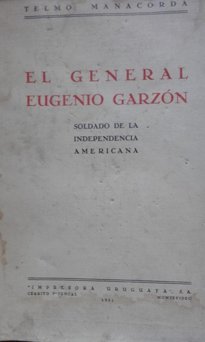 general eugenio garzon- telmo manacorda-  1931
