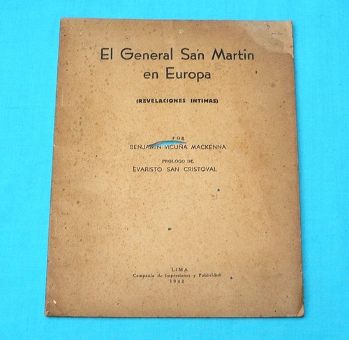 general san martín en europa benjamín vicuña mackenna 1942
