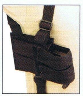 genérico táctica cross draw shoulder holster - negro