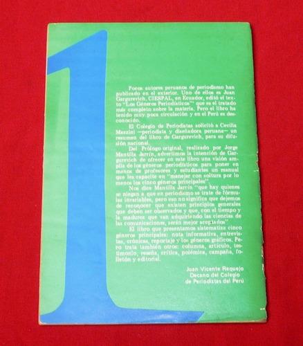 géneros periodísticos colegio de periodistas de perú crónica