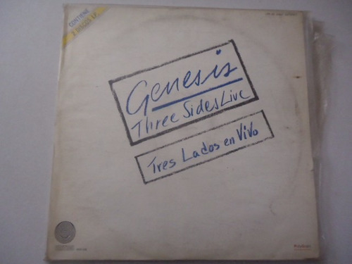 genesis / three sides live vinyl lp acetato