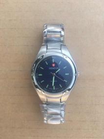 hacer un pedido mayor selección de 2019 envío gratis Geneva Reloj Caballero Stainless Steel Back Quartz Nuevo