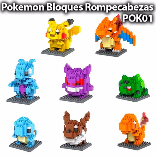 gengar pokemon lego mini blocks rompecabezas armable