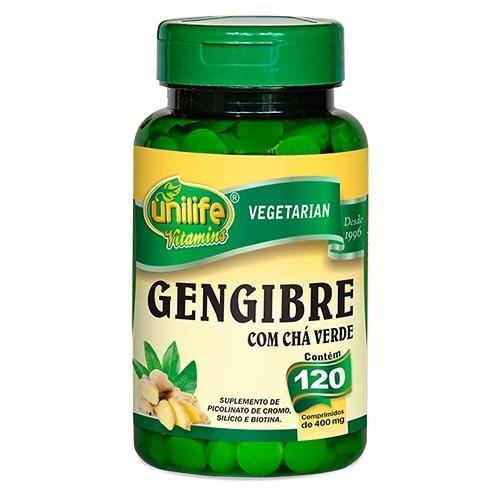 Gengibre Com Chá Verde 360 Cápsulas 400 Mg Kit C/ 3 Potes - R$ 52 ...