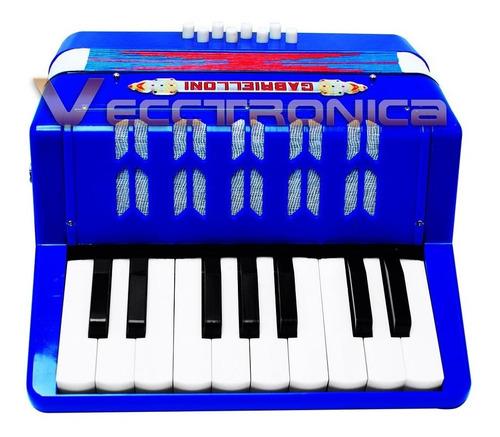 genial acordeon profecional con 17 teclas y 8  botones woow