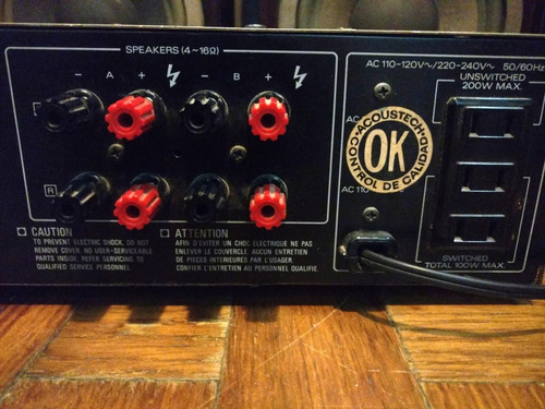 genial amplificador kenwood ka-50 japan 90watts hbaudio