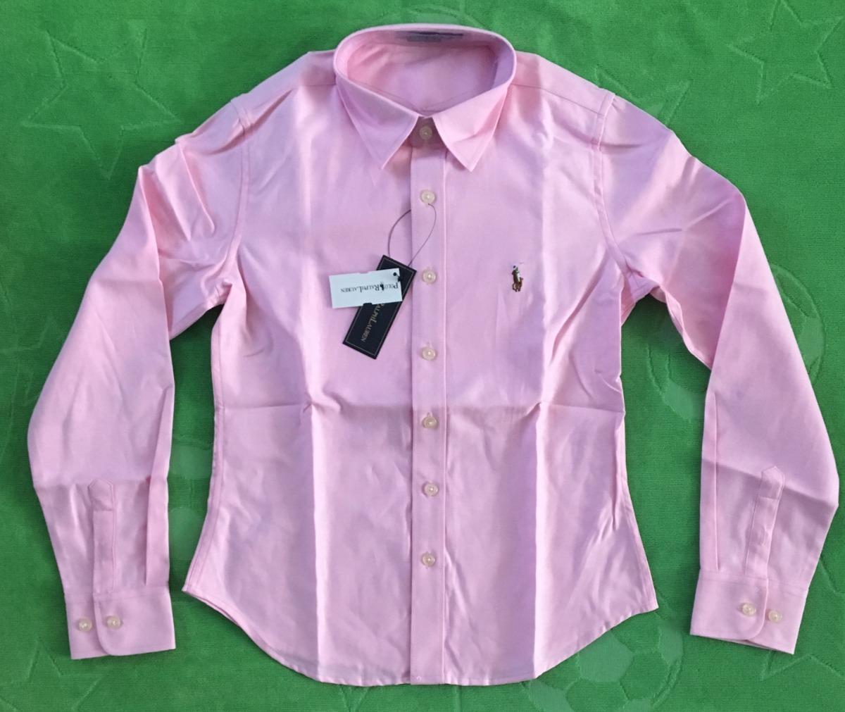 genial camisa blusa mujer dama polo ralph lauren rosa pony. Cargando zoom. fef280731cb