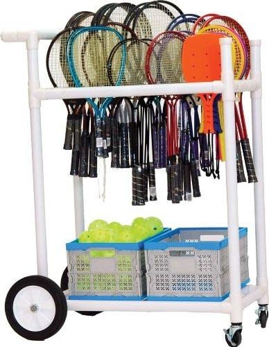 genial carrito para entrenamiento de tenis badmington pinpon