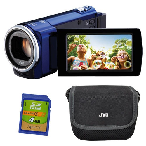 genial combo kit cámara digital jvc gz-e10 full hd