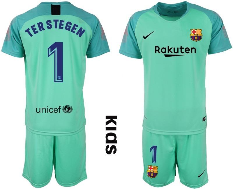 36eea0f11 genial jersey aqua niño portero fc barcelona ter stegen 1. Cargando zoom.
