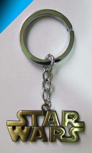 genial llavero starwars dorado cromado - star wars